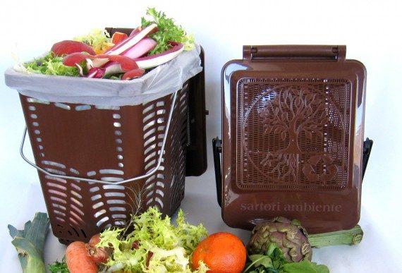 koše na bioodpad, zber kuchynského odpadu, košík na bioodpad
