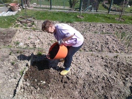 využitie humusu, využitie kompostu, hnojenie záhrady na jar