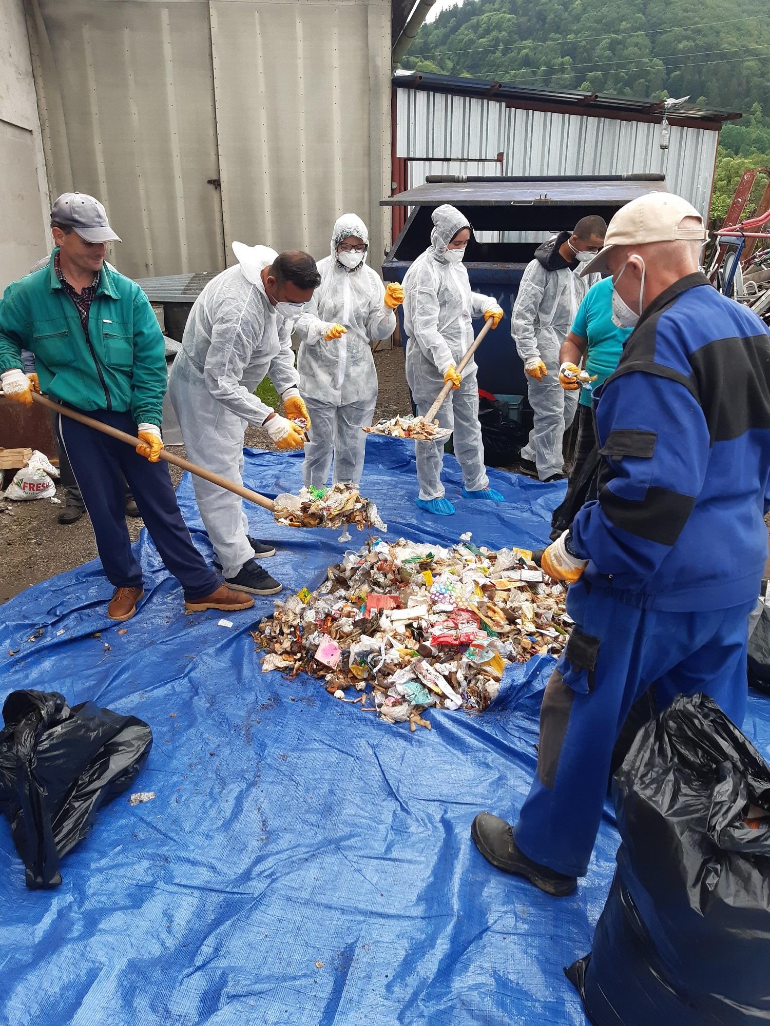 analyza odpadu, valaská, brko, zloženie odpadu
