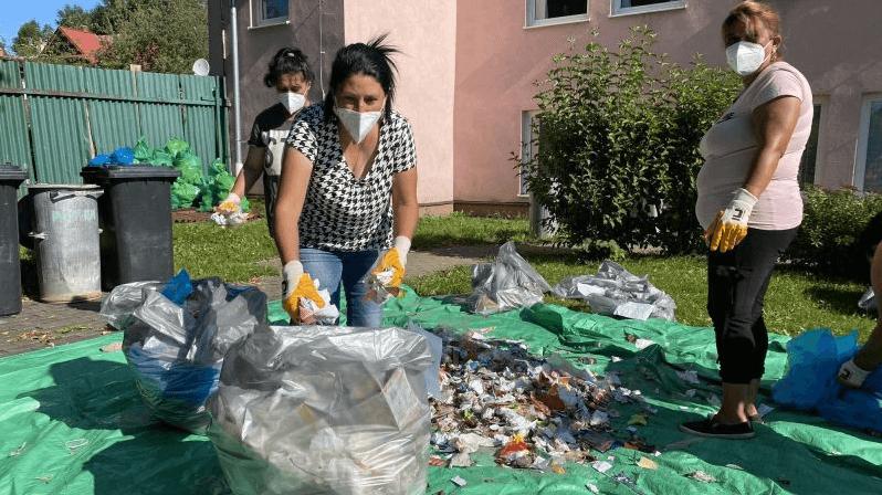 ručné triedenie odpadu