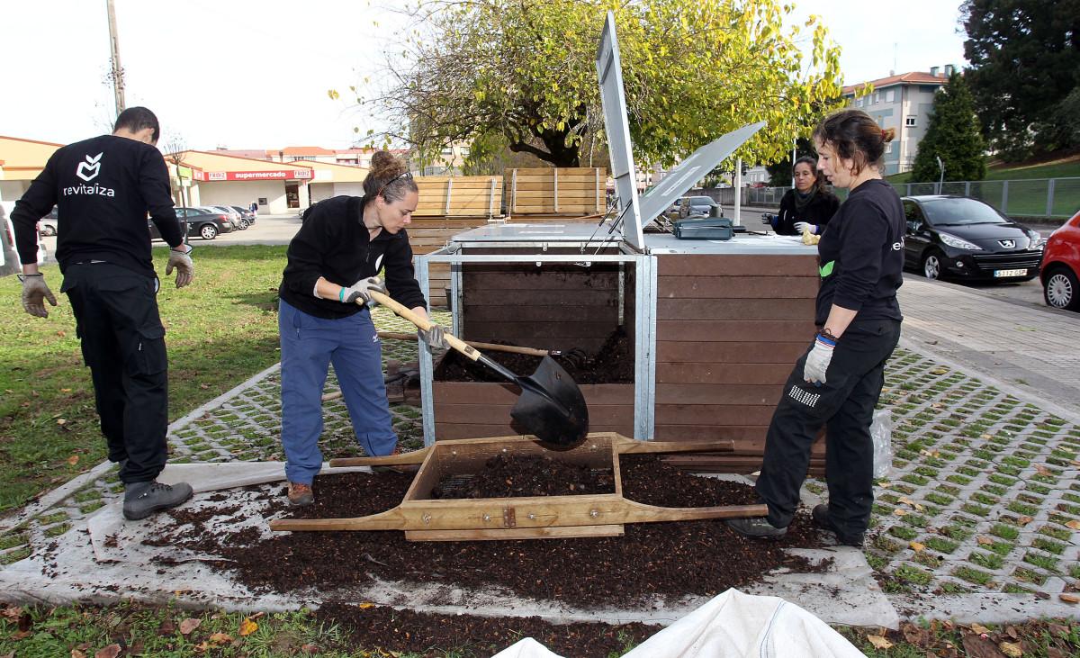 JRK SLovensko Pontevedra kompostovanie bioodpad, cistenie komposteru